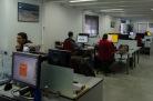 In diesem Büro arbeiten die Designer, Ingenieure und die Administration