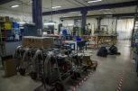 die Metallwerkstatt, hier werden Ventilatoren und Brenner hergestellt